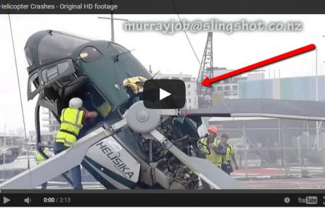 מסוק מתרסק מטרים מהקרקע. מה קרה לטייס?