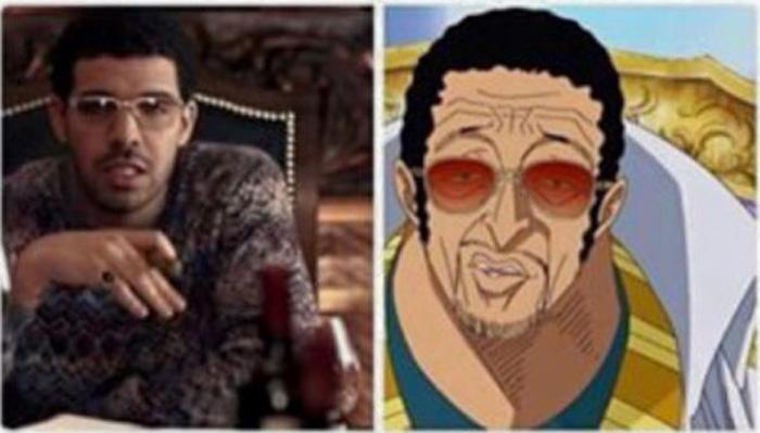 Drake looks just like Kizaru from One Piece