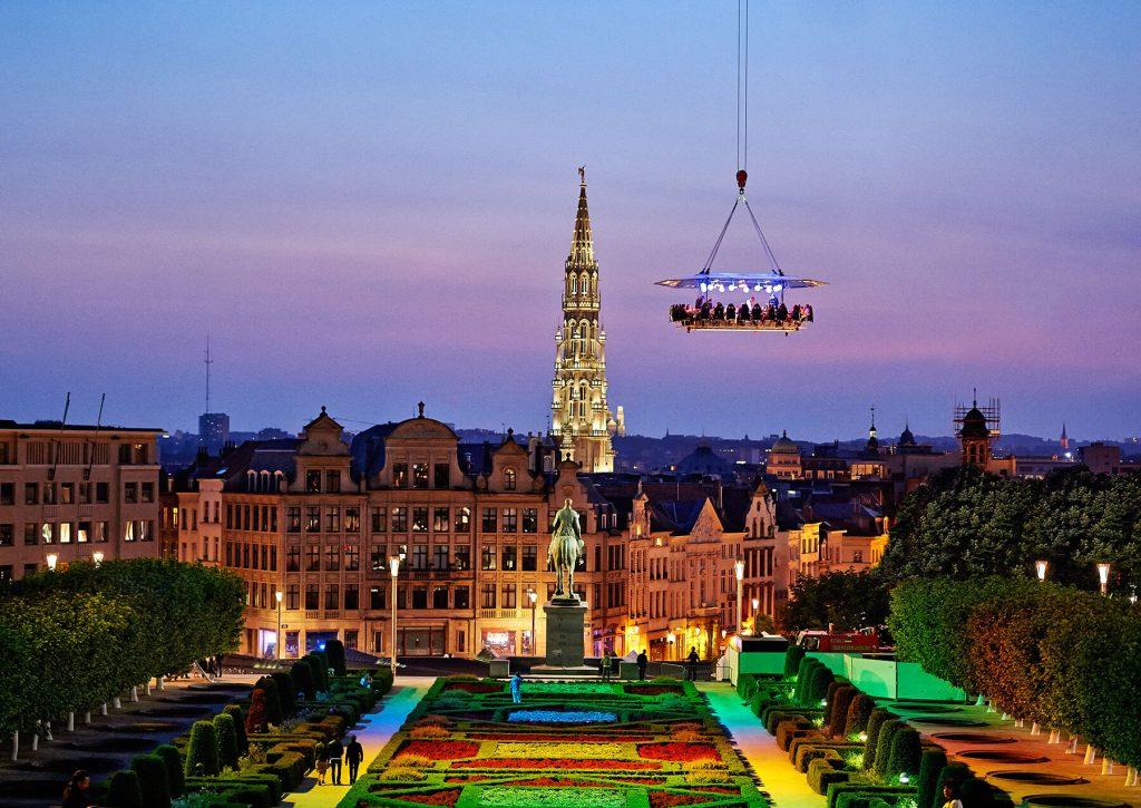 ארוחה בשחקים בבריסל בלגיה