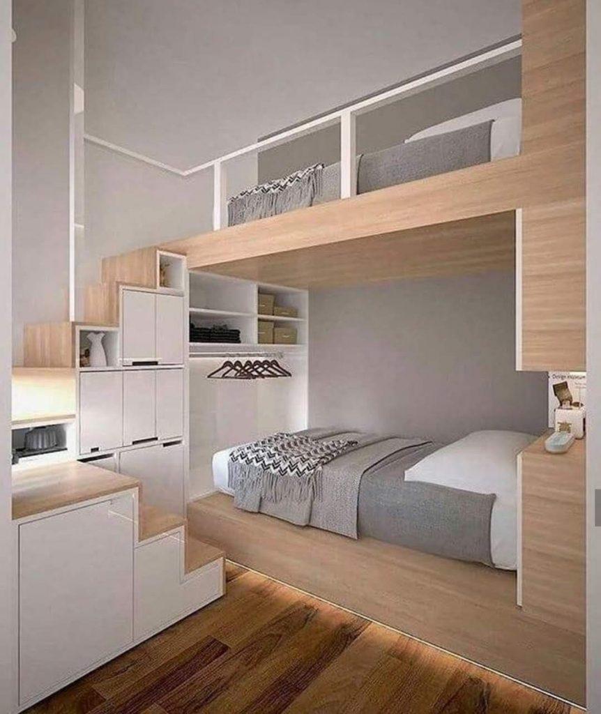 מיטת קומותיים מעץ לילדים