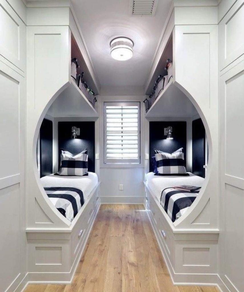 חדר שינה לשני ילדים מעץ