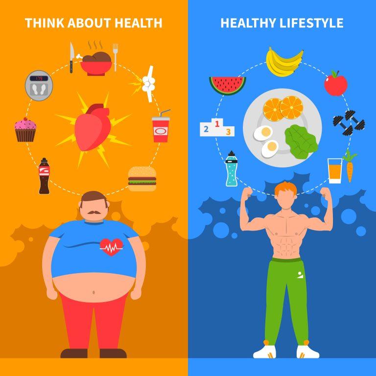 תזונה נכונה - איש שמן ואיש רזה