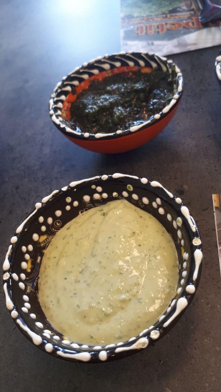 טחינה ירוקה בחומוסייה של עבודי בחריש