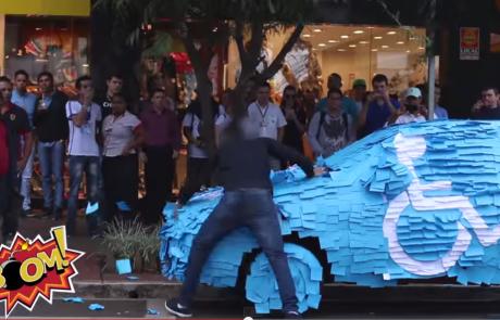 תראו מה עשו לבחור שהחנה את מכוניתו בחניית נכים בברזיל